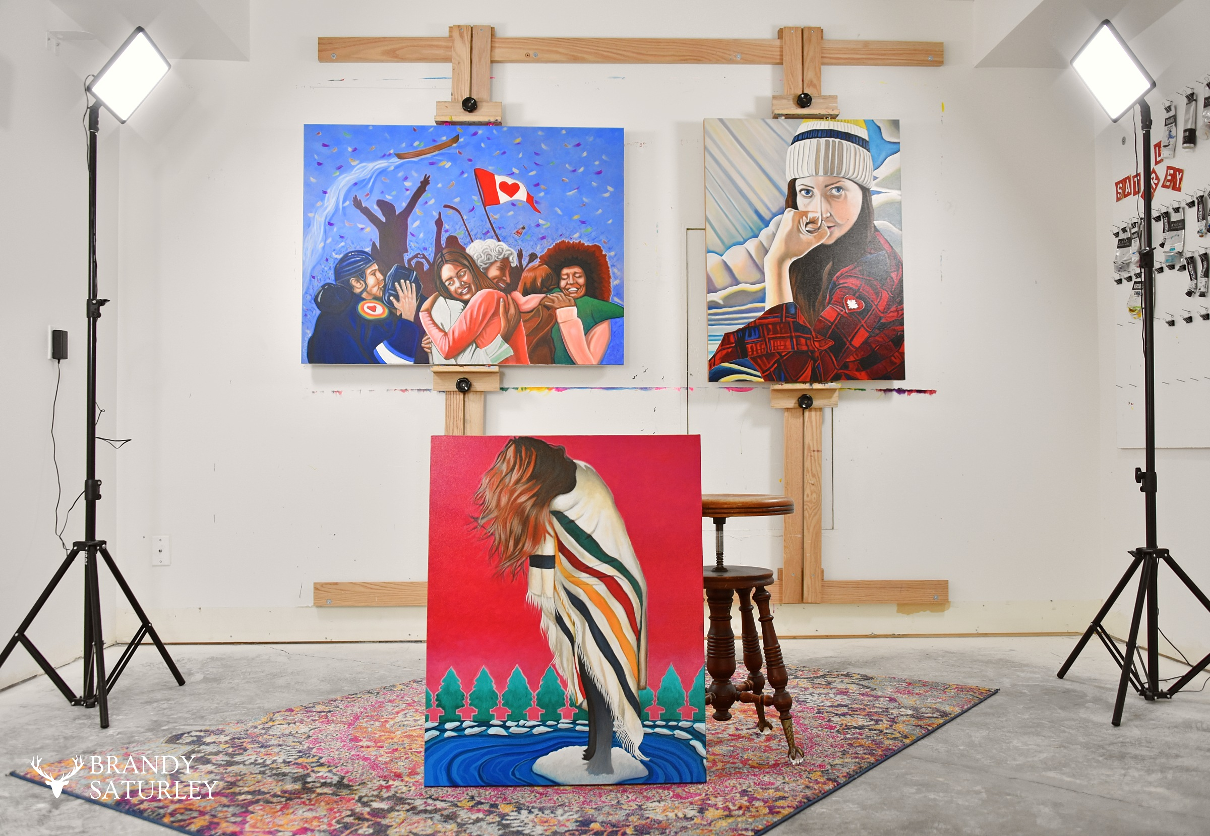 Canadian Pop Art and Artist Brandy Saturley studio in Victoria BC