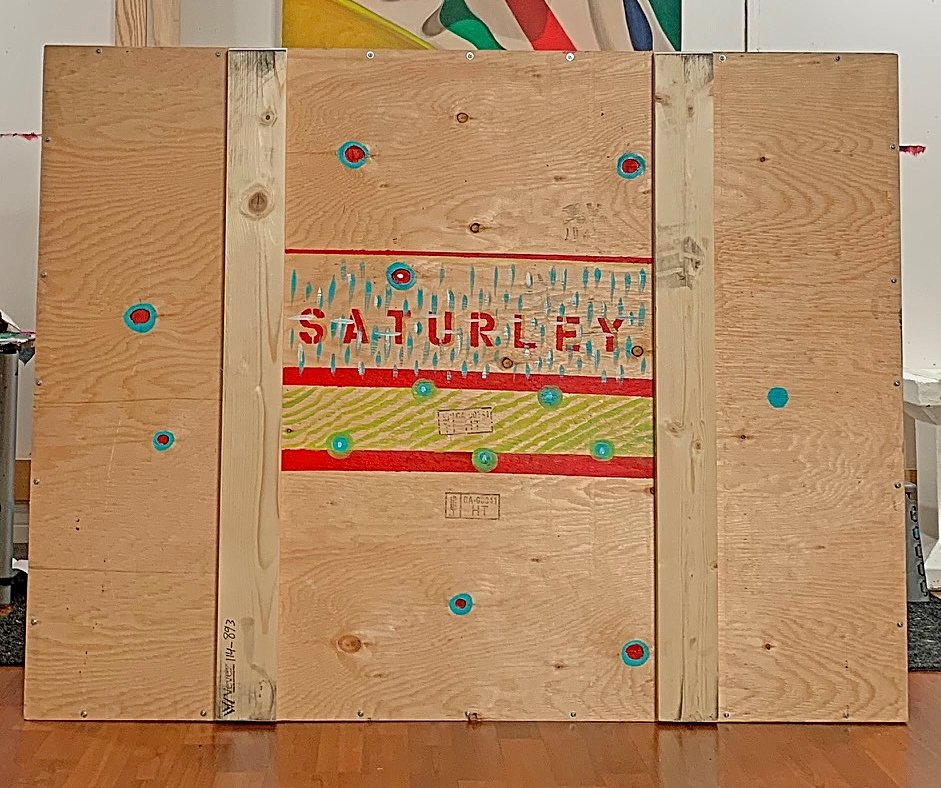 wooden art shipping crate from VEVEX and Brandy Saturley