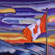 Canadian flag in art