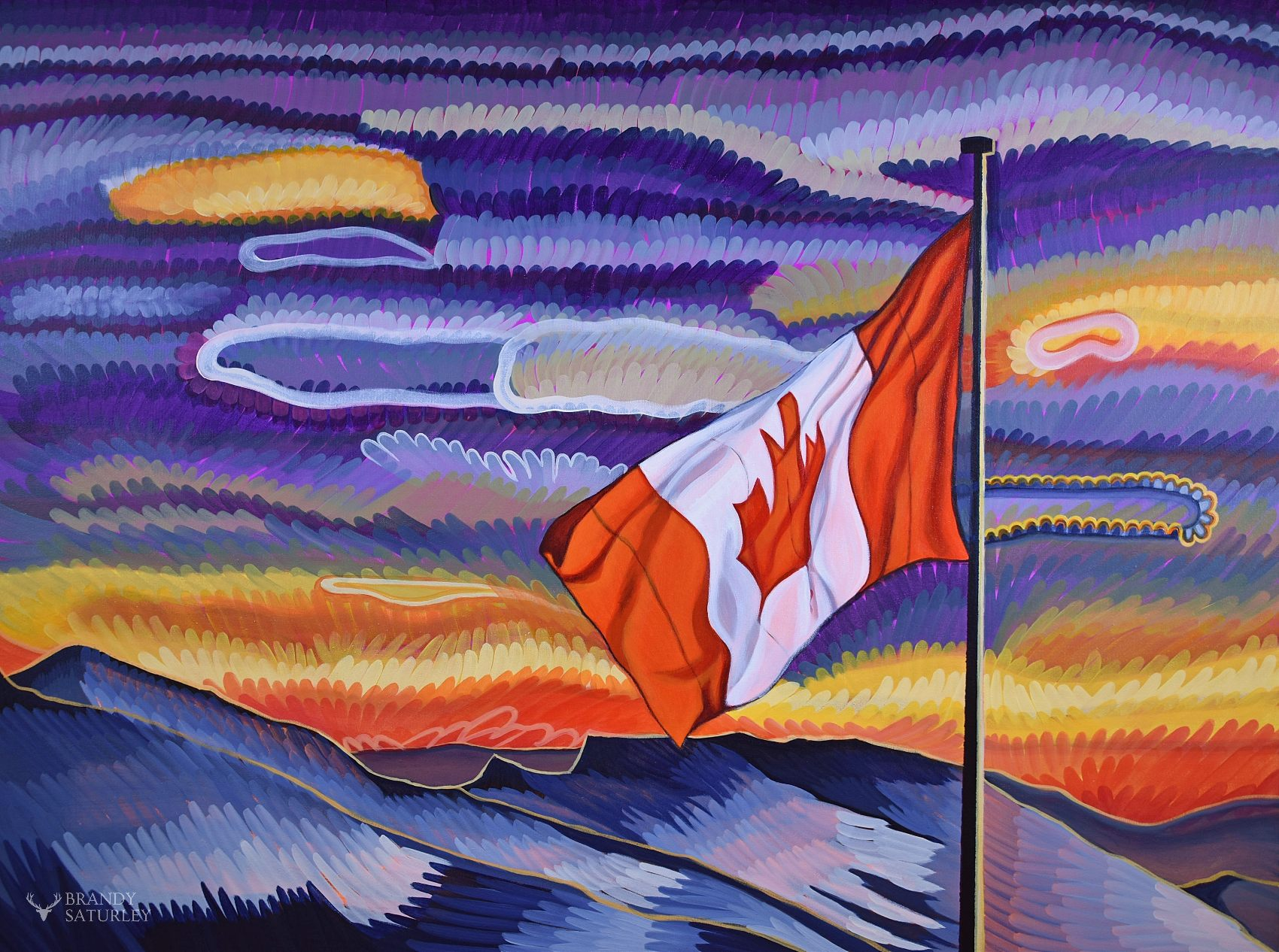 painting of Canadian flag 2020