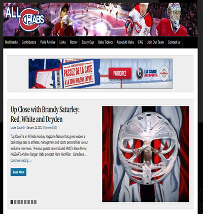 goalies mask painting feature AllHabs hockey Magazine Brandy Saturley