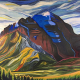 Canadian artists painting mountains