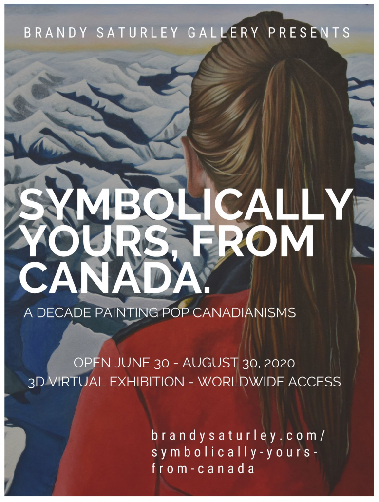 Canadian Artist solo Exhibition poster 2020 Brandy Saturley