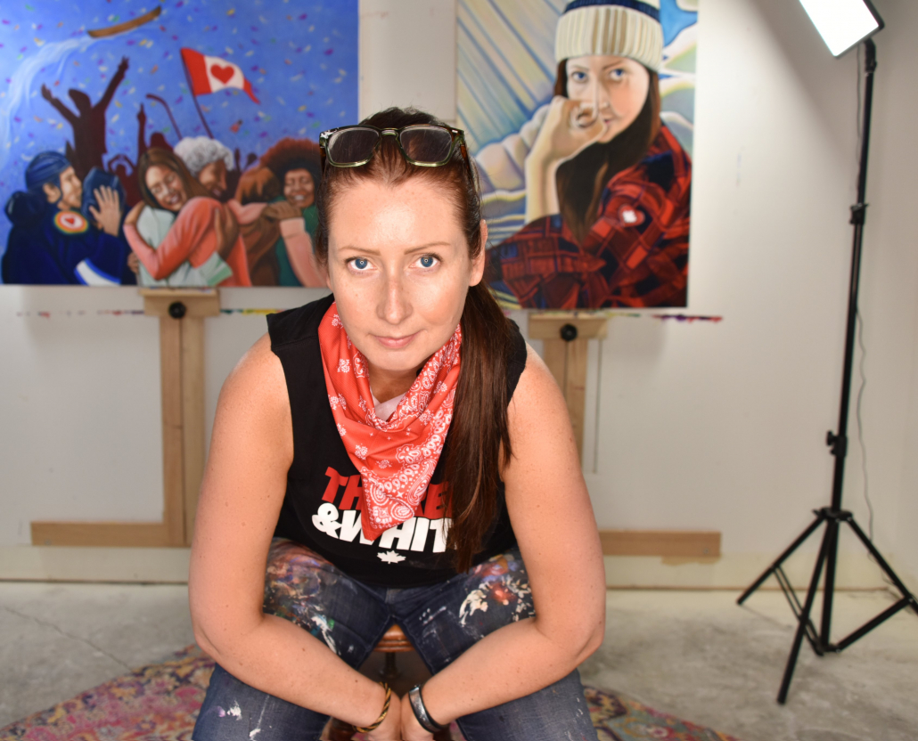 photo of Canadian Artist Brandy Saturley
