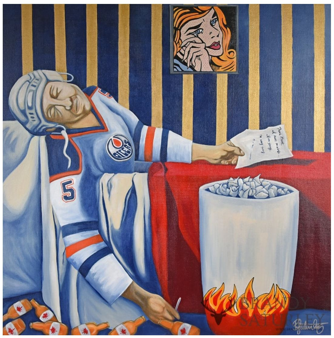 the legend of Steve Smith Death of a Rookie painting by Brandy Saturley