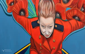 thumbnail photo of painting detail on a remembrance day painting by Brandy Saturley