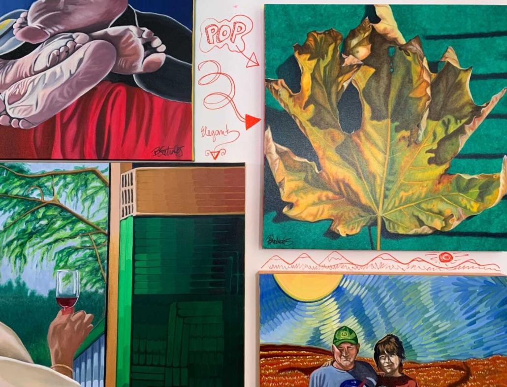 maple leaf painting on display art show