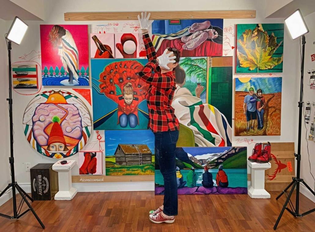 brandy saturley Canadian artist studio