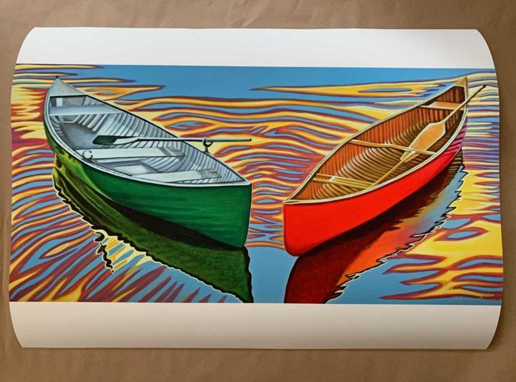 canoe painting prints