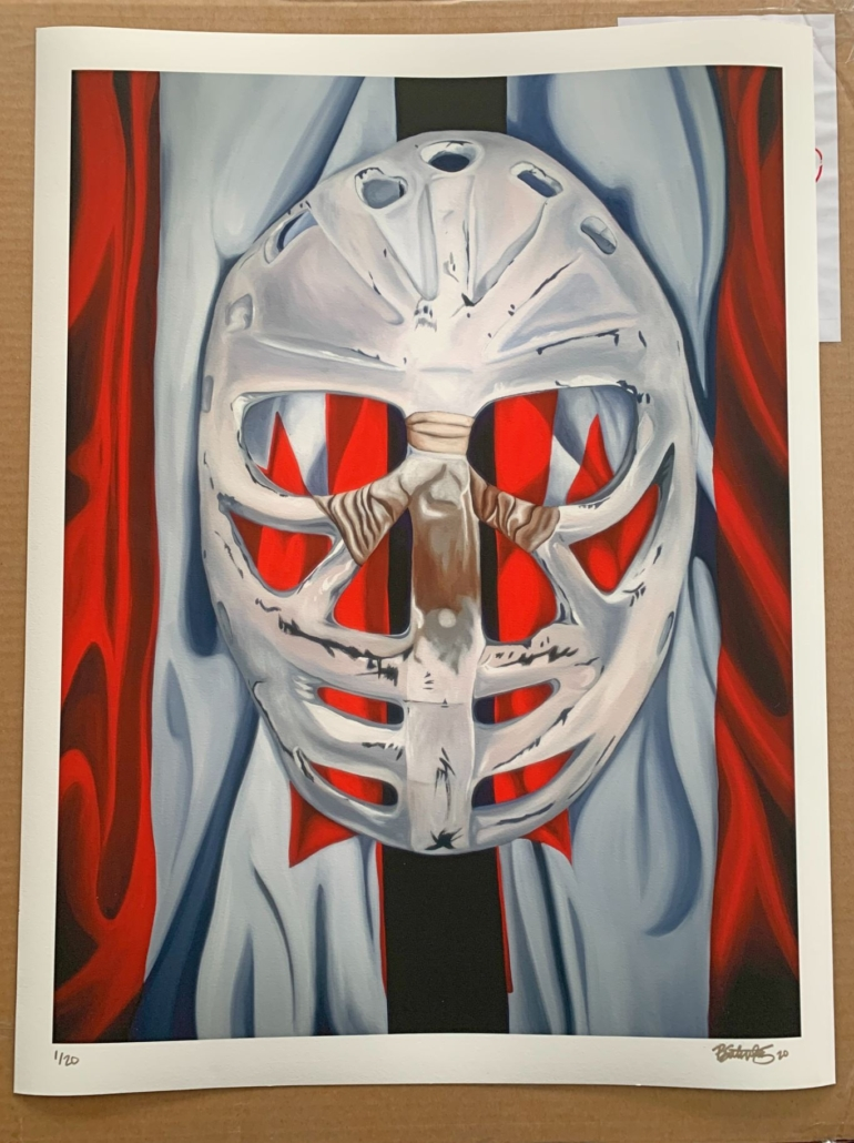 goalie mask painting prints on paper