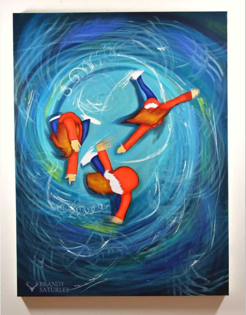 ice skating paintings