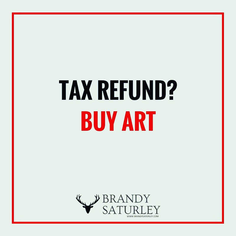 tax refund buy art