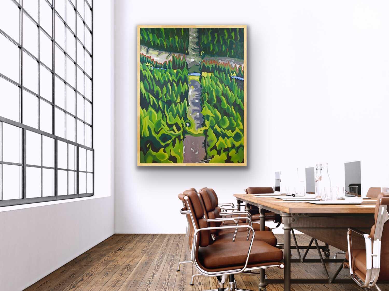 large painting landscape whistler