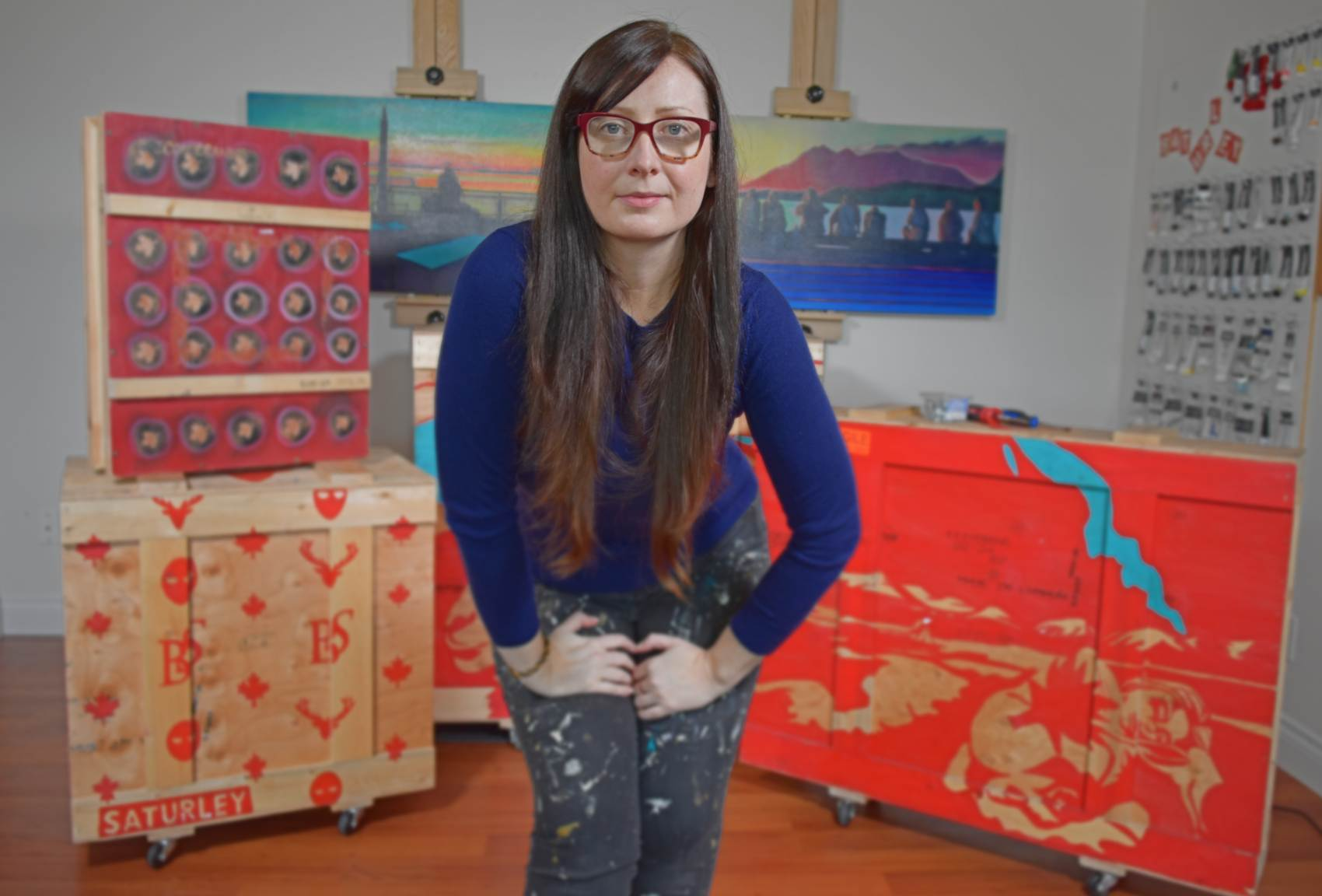 Canadian artists and painter Brandy Saturley