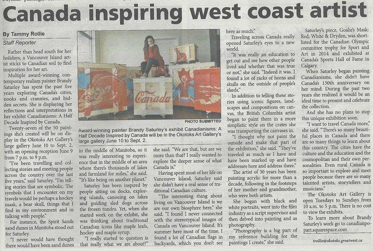 Canada Inspires WestCoast artist