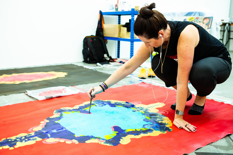 Brandy Saturley in her London studio