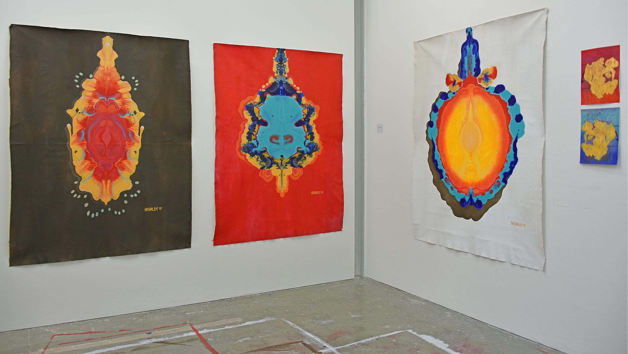 paintings by Brandy Saturley at Royal College of Art Sackler studios