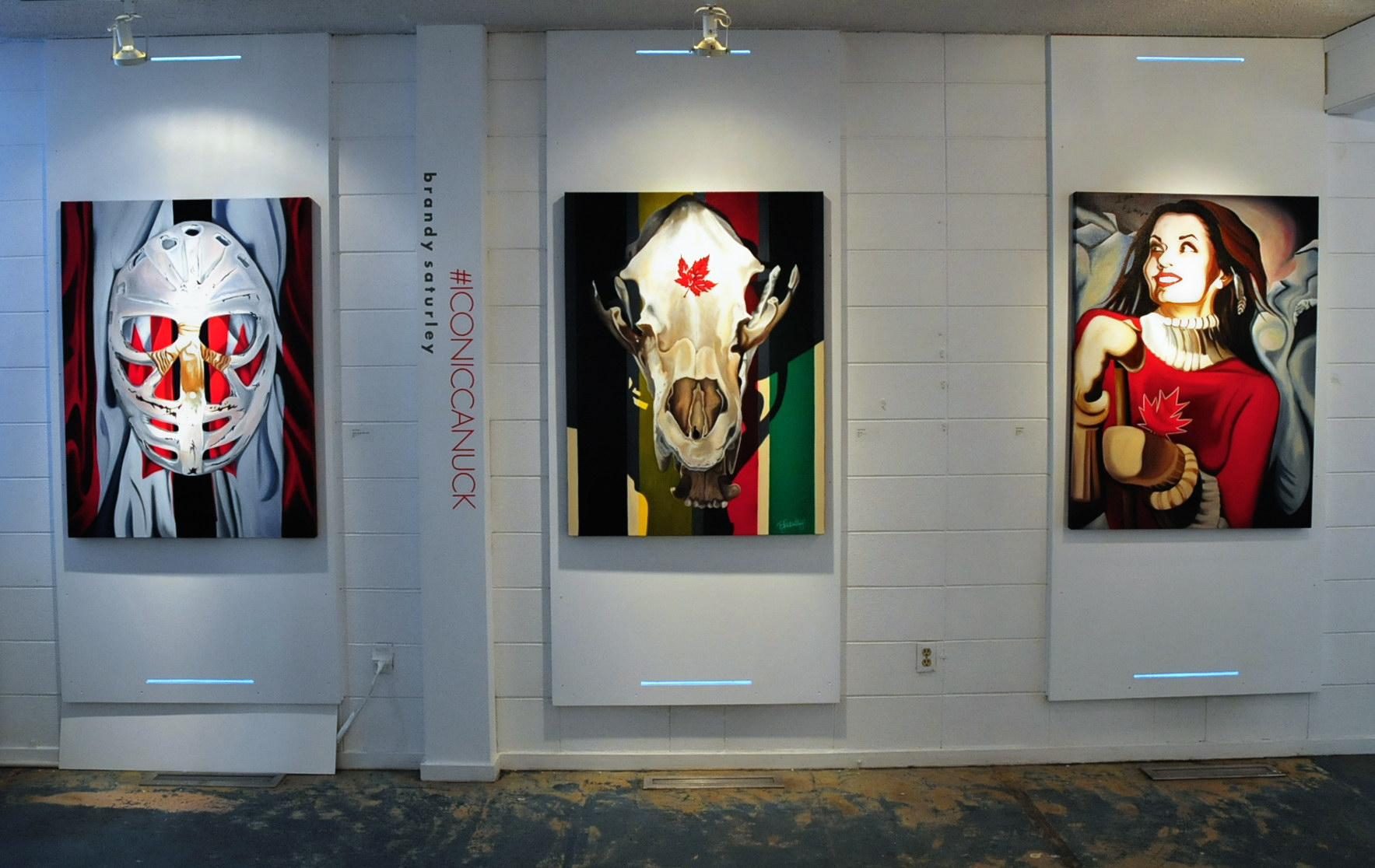 #ICONICCANUCK art show at CARFAC Alberta - Brandy Saturley