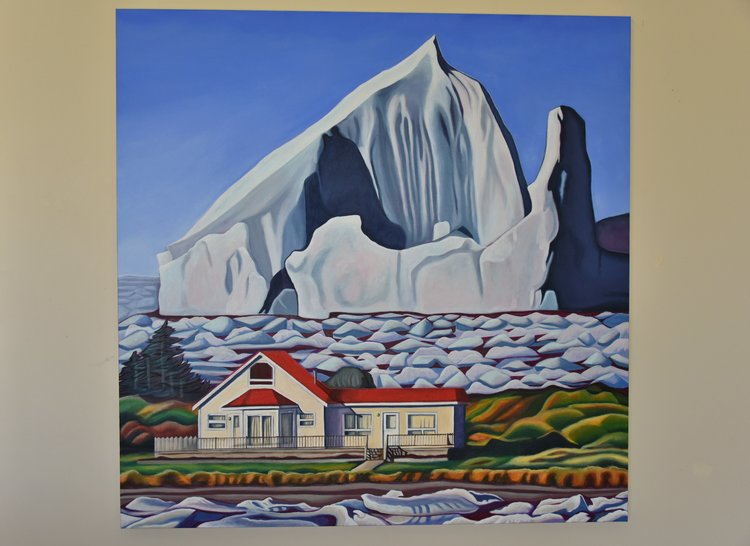 painting of icebergs in Newfoundland