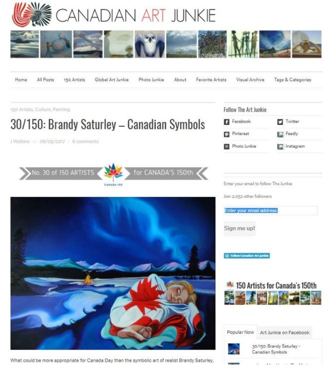 Press - Canadian Artist Brandy Saturley - Canada150