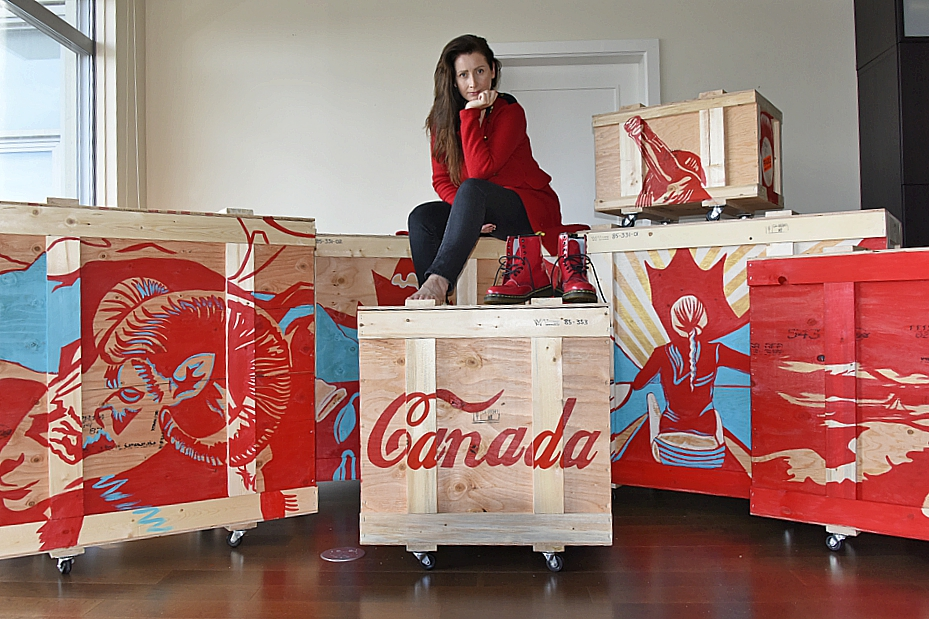 Brandy Saturley on her art shipping crates