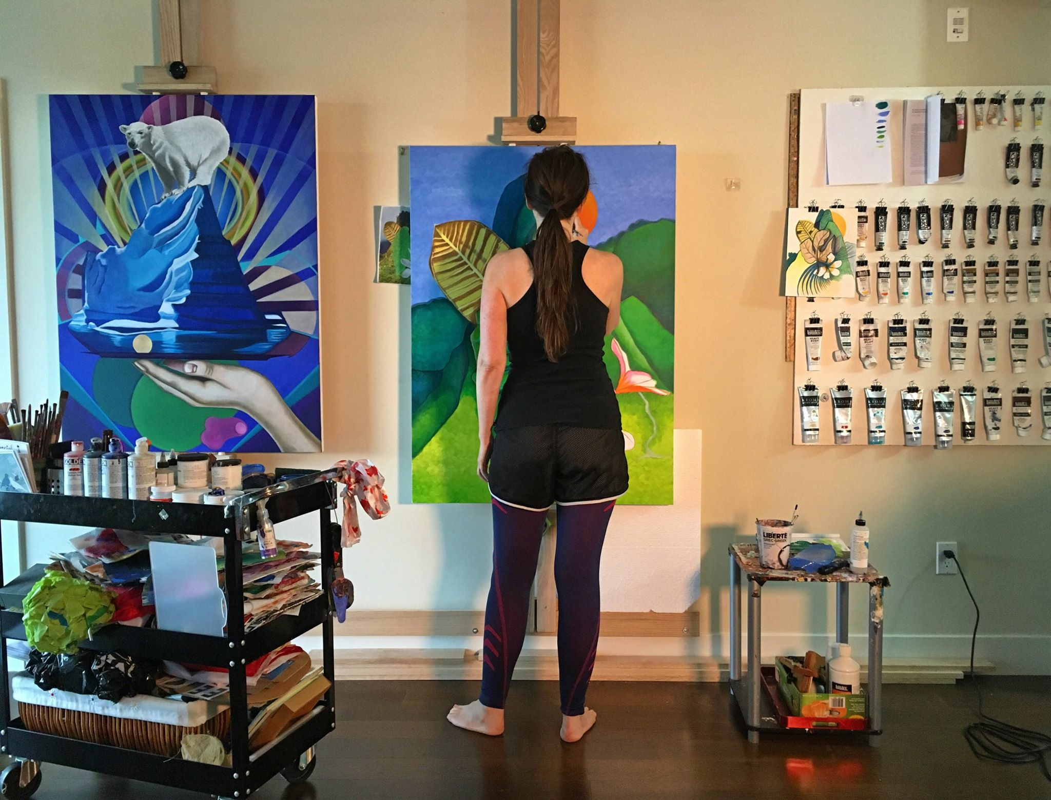 Canadian artist Brandy Saturley in her art studio