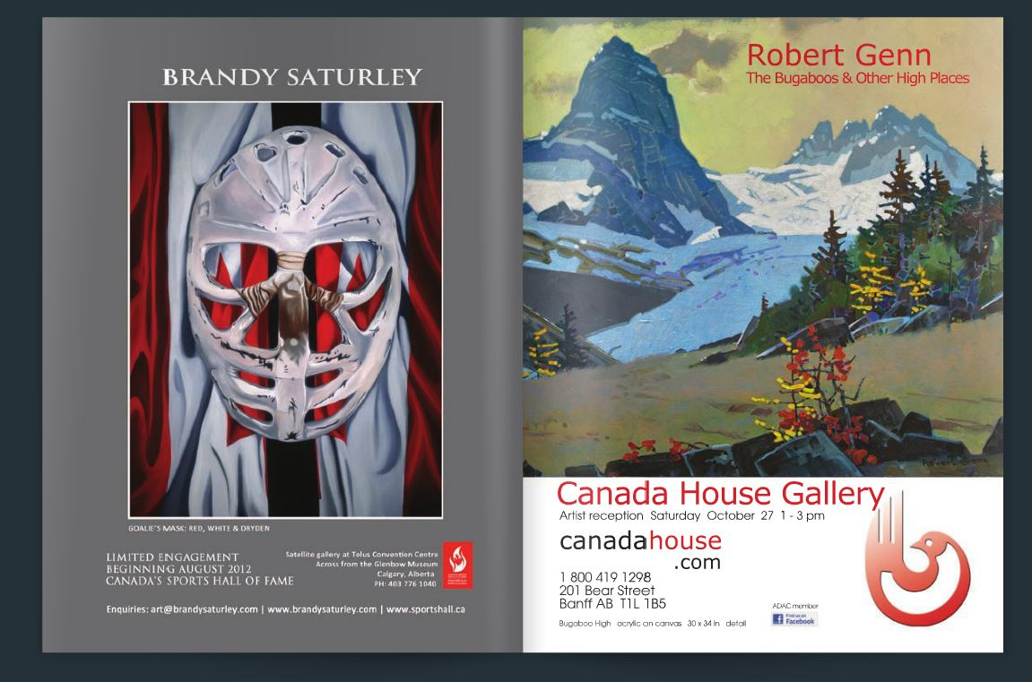 the artworks of Brandy Saturley featured in Galleries West magazine