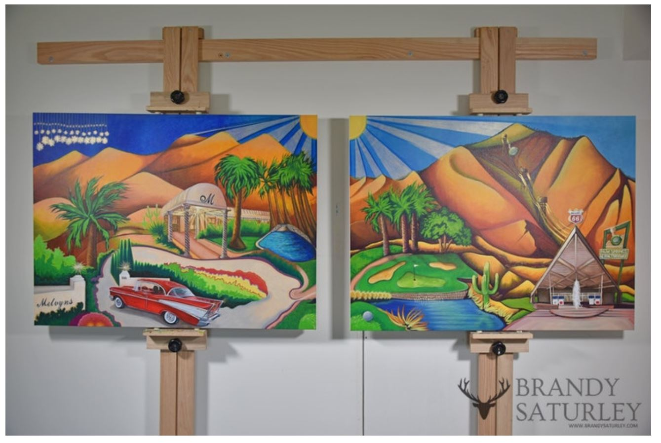 Palm Springs paintings Palm Desert and Rancho Mirage