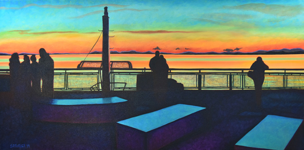 Sunset on a BC Ferry