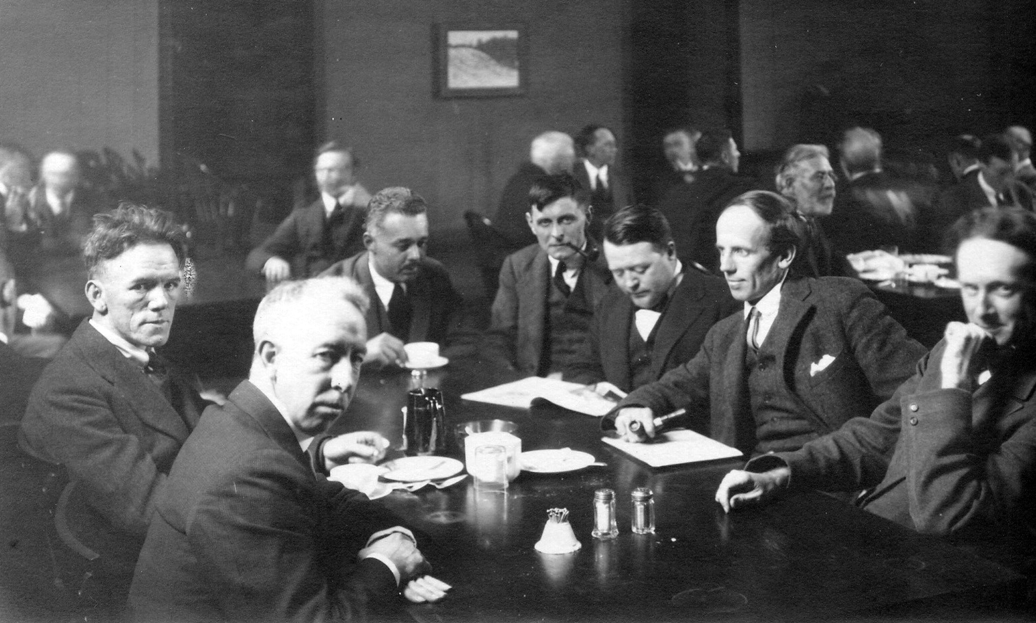 Group of Seven at table