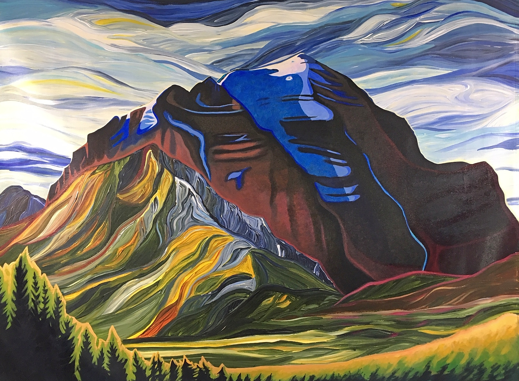 Canadian landscape paintings Saturley Mayer