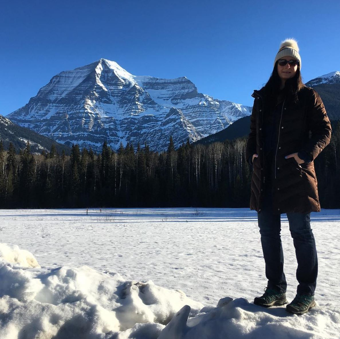 Canadian Artist Brandy Saturley at Mt. Robson