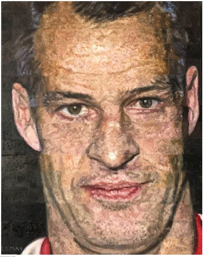 painting of Gordie Howe by Robert lemay