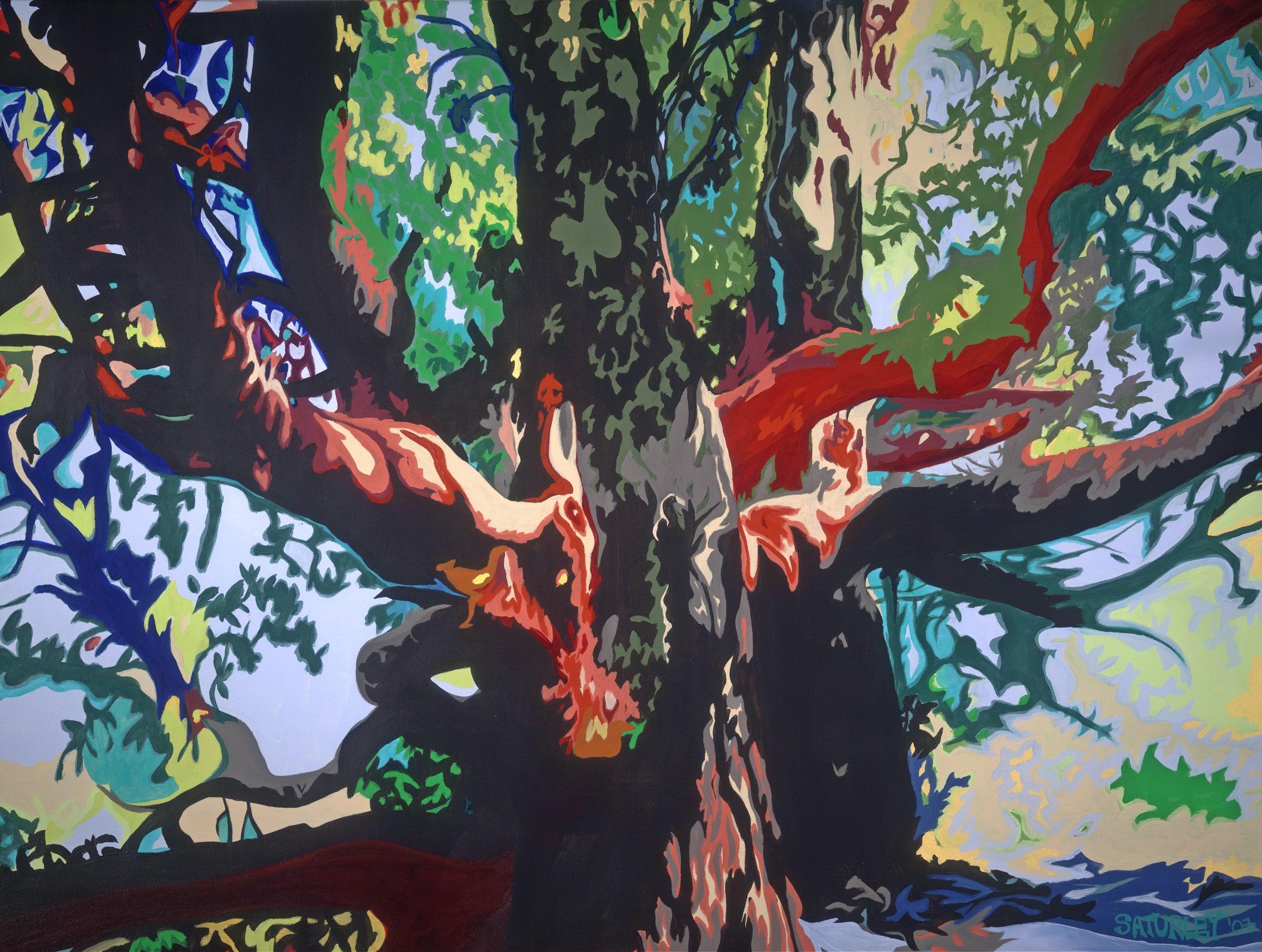 arbutus hug painting of arbutus trees