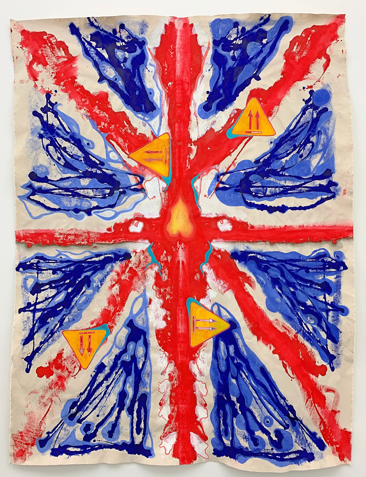 Union Jack painting by Brandy Saturley - Royal College of Art