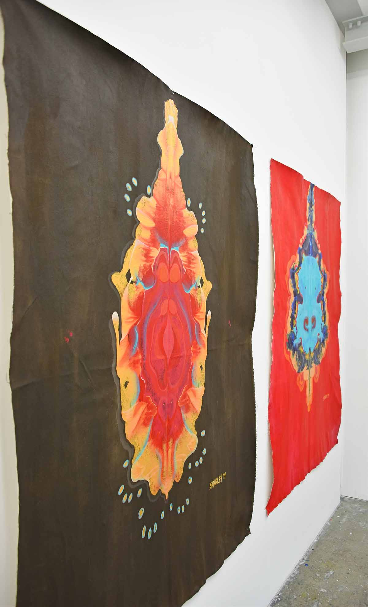 Royal College of Art - abstract paintings Brandy Saturley