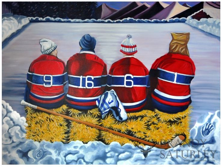 hockey players Habs Montreal Canadiens painting
