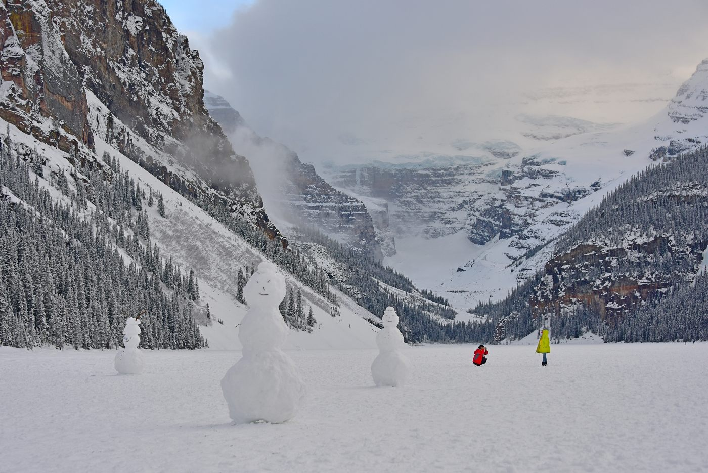 photo of snow at Lake Louise - Brandy Saturley