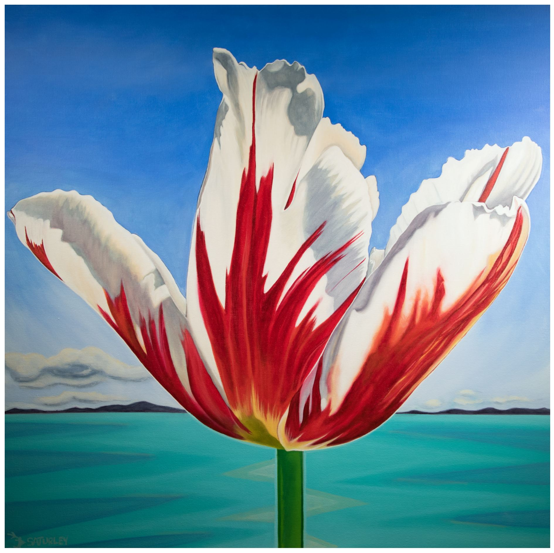 Canada 150 tulip painting Brandy Saturley Canadian Artist