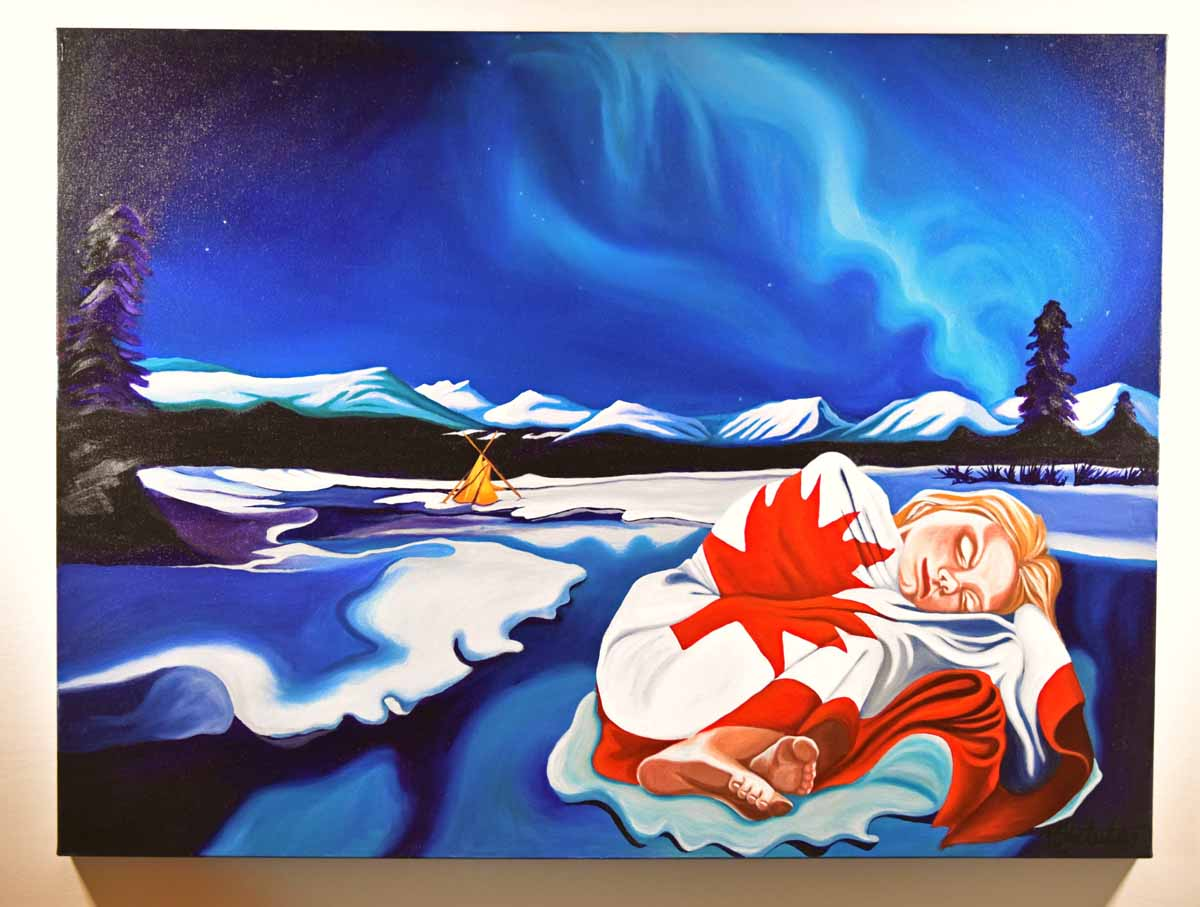 10 paintings flag day in canada