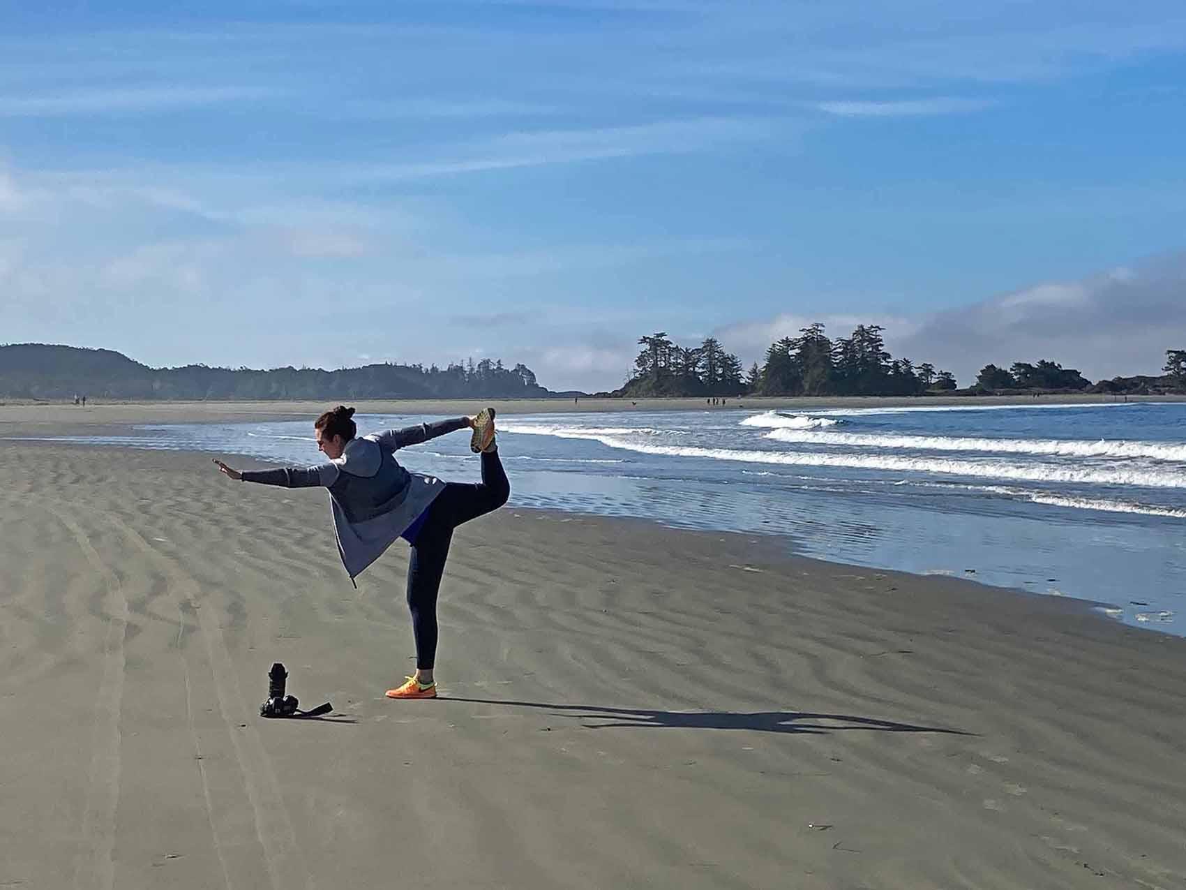 canadian artist brandy saturley on chesterman beach