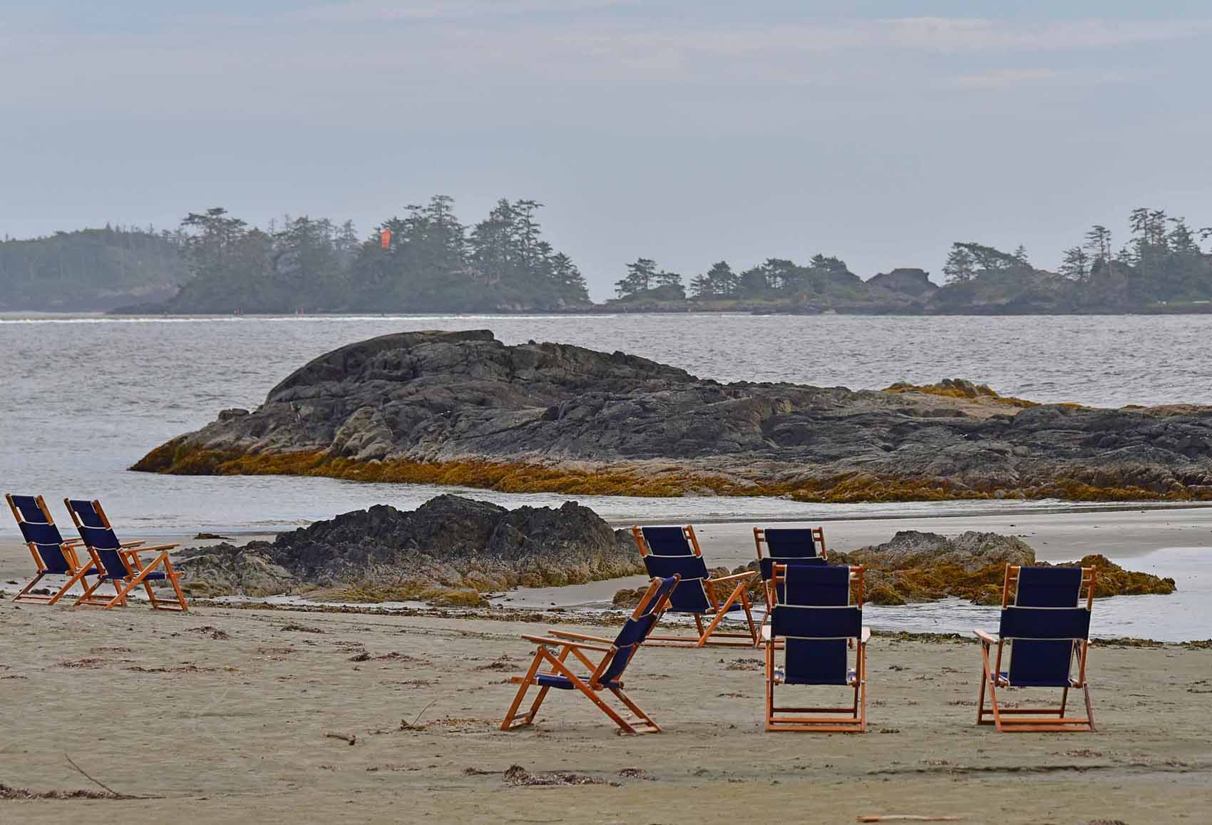 chairs on chesterman beach