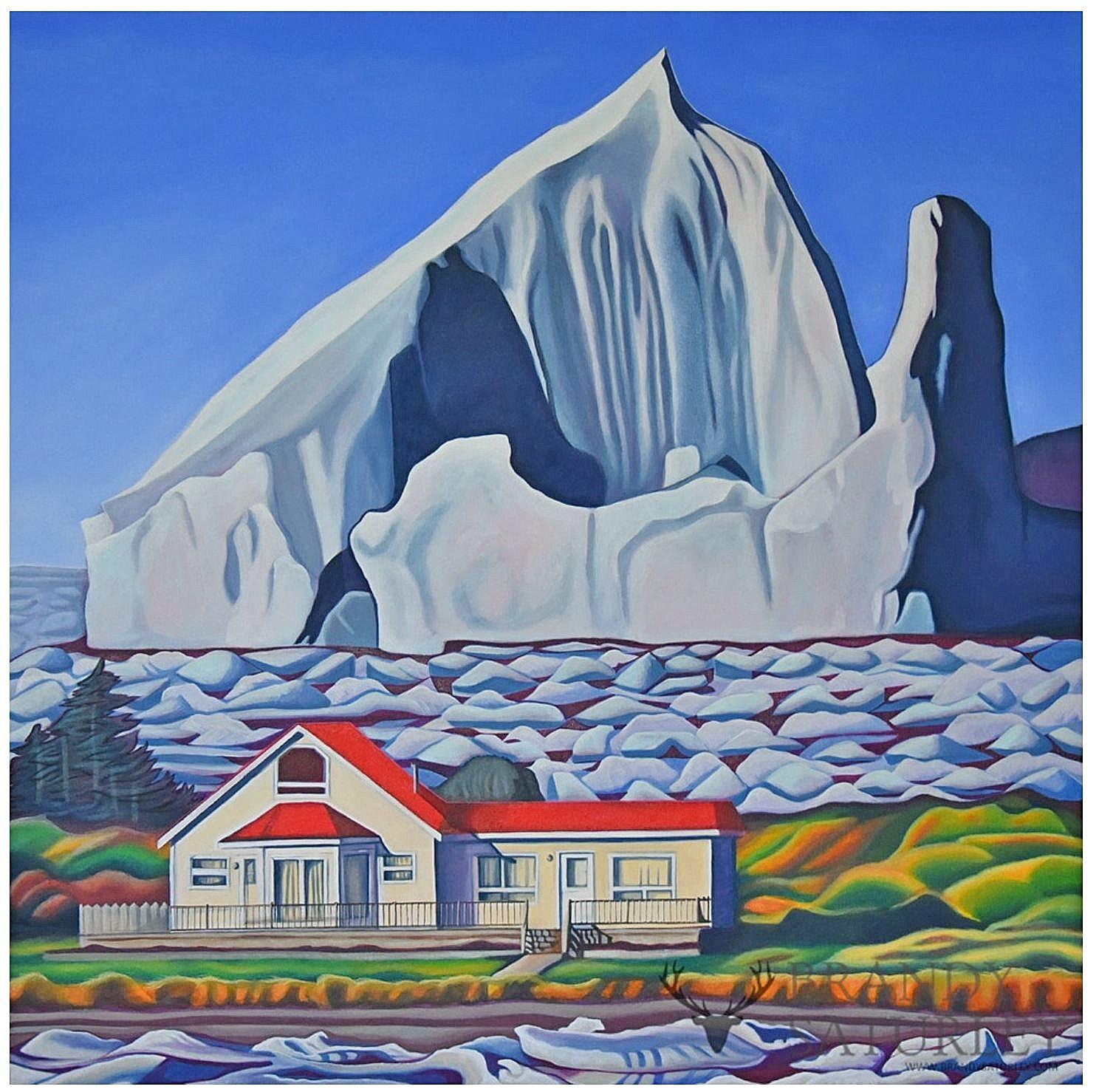 painting of iceberg near Twilingate by Brandy Saturley